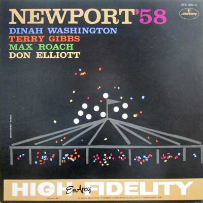 DINAH WASHINGTON TERRY GIBBSMAX ROACH DON ELLIOT - Newport '58 - LP