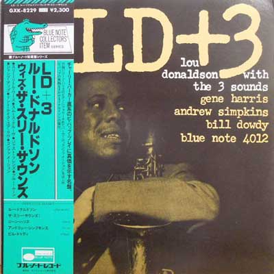 LOU DONALDSON - With The Three Sounds: LD + 3 - 33T