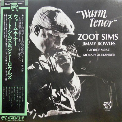 ZOOT SIMS JIMMY ROWLES - Warm Tenor - LP