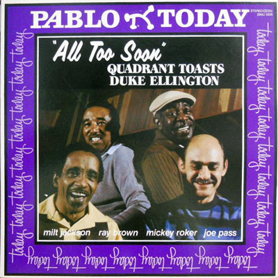 MILT JACKSON: QUADRANT TOASTS DUKE ELLINGTON - All Too Soon - LP
