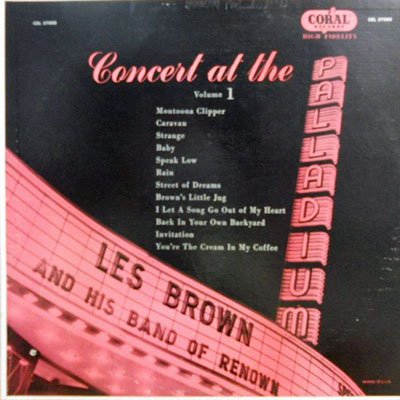 LES BROWN - Concert At The Palladium Vol. 1 - LP
