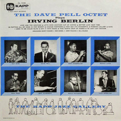 DAVE PELL OCTET - Plays Irving Berlin - LP