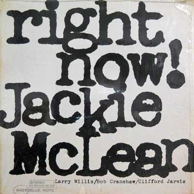 JACKIE MCLEAN - Right Now - LP