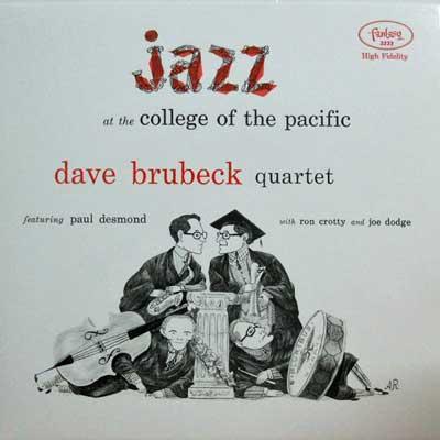 DAVE BRUBECK QUARTET - Jazz At Coolege Of Pacific - LP