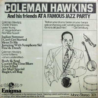 COLEMAN HAWKINS - And His Friends At A Famous Jazz Party - LP