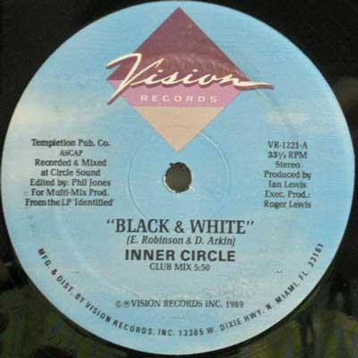 INNER CIRCLE - Black & White - 12 inch x 1