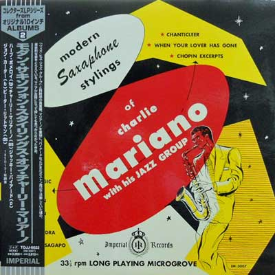 CHARLIE MARIANO & HIS JAZZ GROUP - Modern Saxophone Stylings - LP